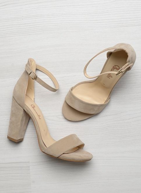 Bambi D0178210172 Bej Kadın Topuklu Ayakkabı